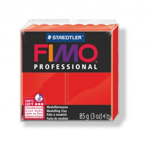 Глина Fimo Professional 200 true red