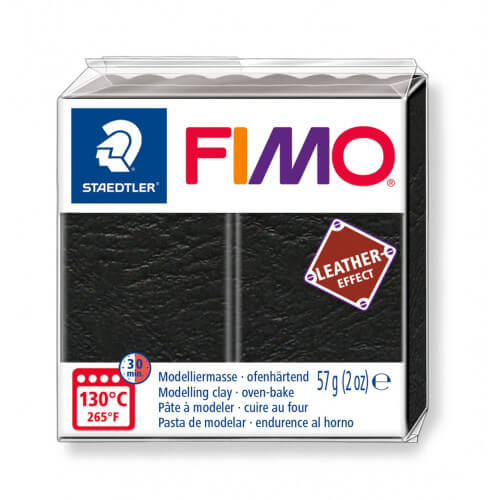 Глина Fimo Leather - 909 черен