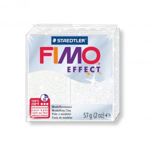 Полимерна глина Fimo Effect 8020 - 052 Glitter White