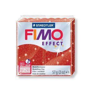 Полимерна глина Fimo Effect 8020 - 202 Glitter Red
