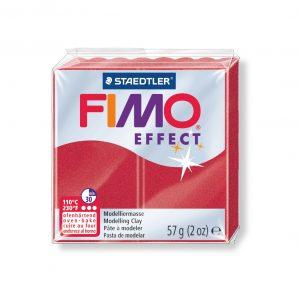 Полимерна глина Fimo Effect 8020 - 28 Metallic Ruby red