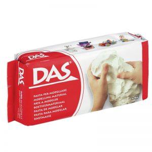 Самосъхнеща глина 1кг DAS - Бяла