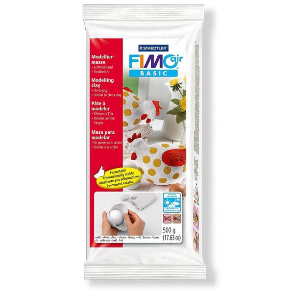 Самосъхнеща глина 500гр Fimo Air White