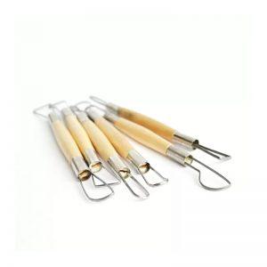 Комплект с 6 броя инструменти за моделиране на глина