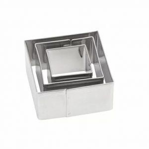 Комплект 3 броя метални форми за изрязване - Квадрати