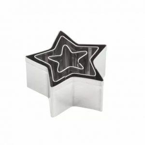 Комплект 3 броя метални форми за изрязване - Звезди